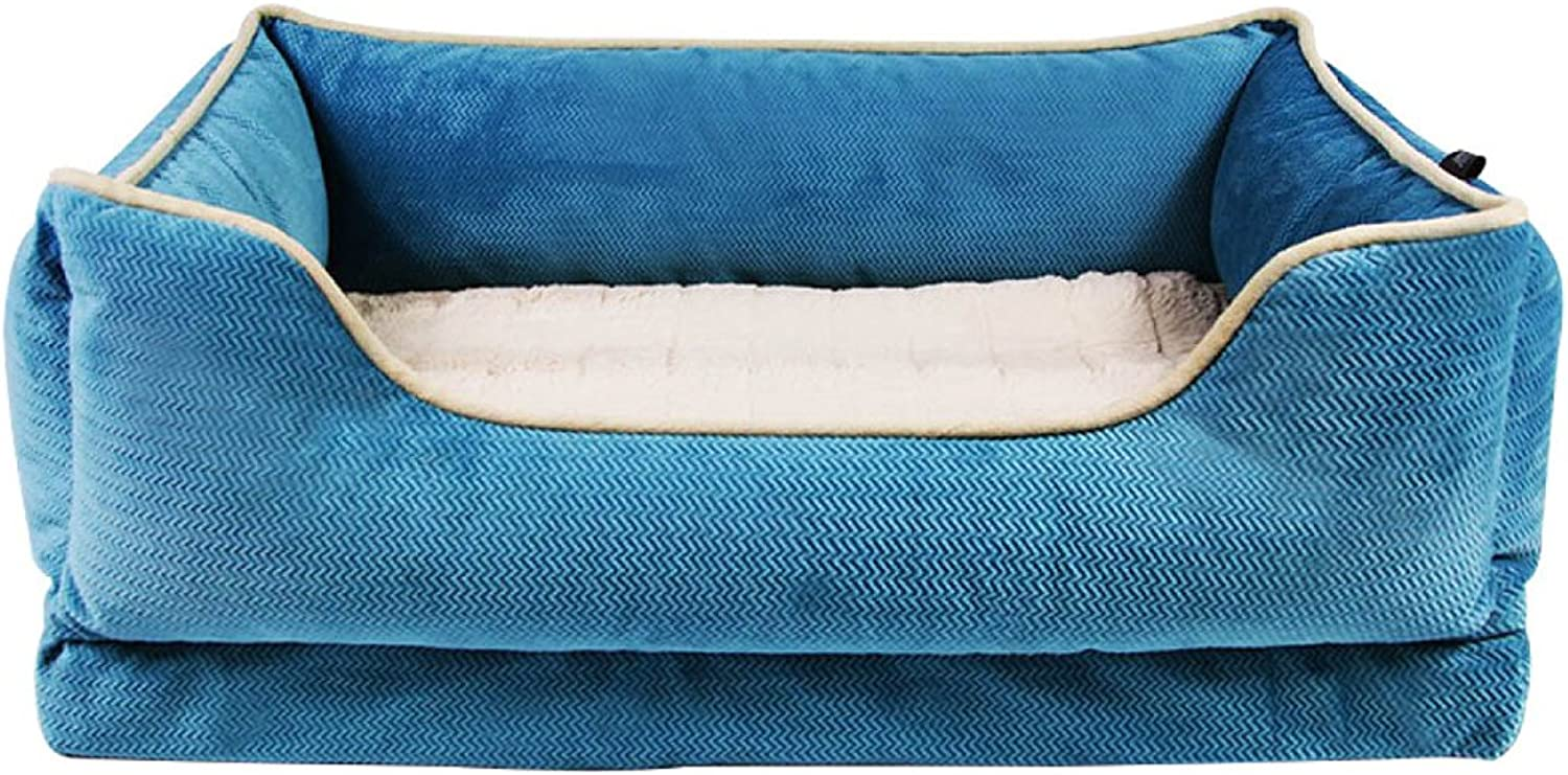 ANHPI Kennel Dog Bed Large Kennel Small Dog Removable And Washable Pet Nest Winter Warm Dog Mat Dog Bed,B70  54  25CM 28  21  10in