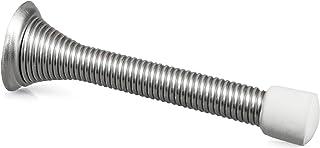 10 Pack of Satin Nickel Spring Door Stops - 3 ¼ Inch Heavy Duty Door Stop - Traditional Spring Door Stop Satin Nickel w/Rubber Bumper