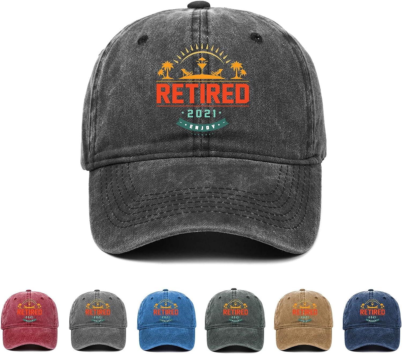 Retired 2021 Enjoy Retirement Hat,Retirement Gift Baseball Cap for Man Woman