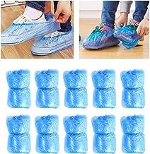 Lurrose 100 peças de capas descartáveis para sapatos de limpeza de carpete sobre sapatos, à prova de poeira, capas para bo...