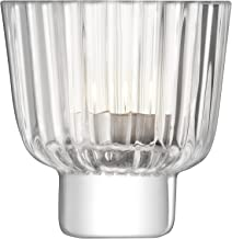 LSA International Pleat Votive Holder, H3.75in, Clear