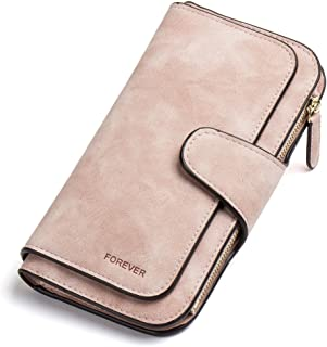 Wallet for Women Leather Clutch Purse Long Ladies Credit Card Holder Organizer