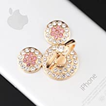 Universal 360 Degree Rotating Finger Ring Stand Holder for Cell Phone or Tablet - Crystal Rhinestone Pink Mickey Mouse