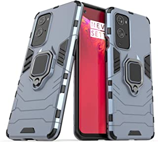 2ndSpring Case for Oneplus 9 Pro,Hybrid Heavy Duty Protection Shockproof Defender Kickstand Armor Case Cover,Navy