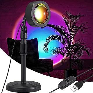 Lampe Sunset, COLORLAM Sunset Projection Lampe Rotation à 180°USB Sunset Lampe Coucher de Soleil Hauteur Réglable Nouvelle...