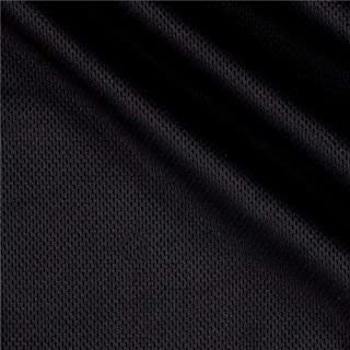 Textile Creations Athletic Mesh Knit Black Fabric By The Yard