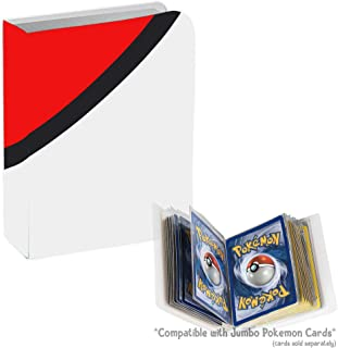 Totem WorldJumbo Inspired Poke Ball Binder with 20 1-Pocket Side Loading Pages - Collectors Portfolio Album Holds 40 Oversized Cards - Compatible with Jumbo Pokemon Cards