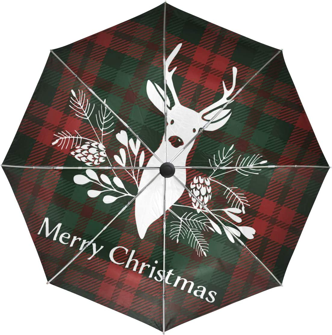 Wamika Soldering Automatic Umbrella Merry Christmas Flowers free shipping Wind with Deer