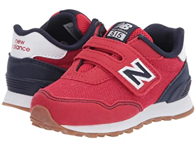 New Balance Kids 515 Hook Loop (Infant/Toddler) (Team Red/Team Navy) Boys Shoes