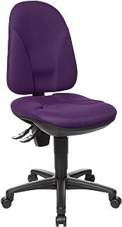 Topstar PO50BC7 Point 35 - Silla de escritorio con ruedas, color morado