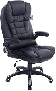 Cherry Tree Furniture Executive Recline Extra Padded Office Chair (Black PU Leather)