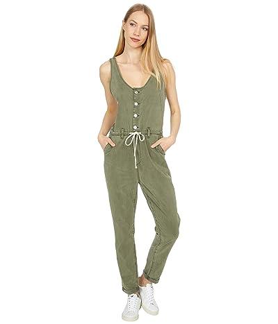 Paige Christy Utility Jumpsuit in Vintage Ivy Green (Vintage Ivy Green) Women