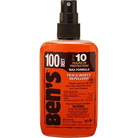 Tender Ben's 0006-7081 100% DEET Mosquito, Tick and Insect Repellent, 3.4 Ounce Pump