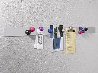 K/ühlschrank Starke Magnete glasklar Design modern Haftmagnete Stabmagnet f/ür Whiteboard Magnetwand 8er arcyl Magnettafel durchsichtig Elegante