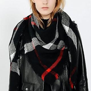 SKREOJF Dame plaid écharpes châle femmes printemps automne hiver épaisse écharpe chaud tout match long (Color : Black, Siz...