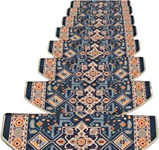 HAIPENG Semicircle Stair Carpet Treads Pads Mats for Staircase Self Adhesive Non Slip Washable, 5 Sizes, 3 Colors, Size Cu...