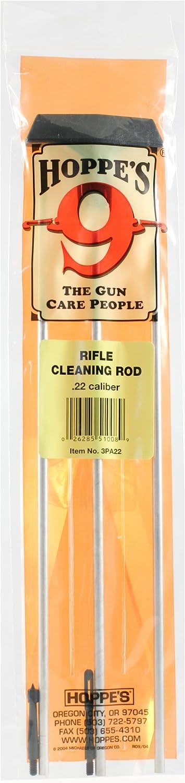 Max 89% OFF Hoppe's No. Great interest 9 Gun Cleaning Caliber Rifle .22 Rod Aluminum