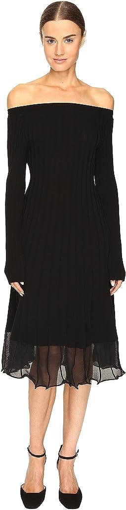 Selim Off the Shoulder Long Sleeve Dress