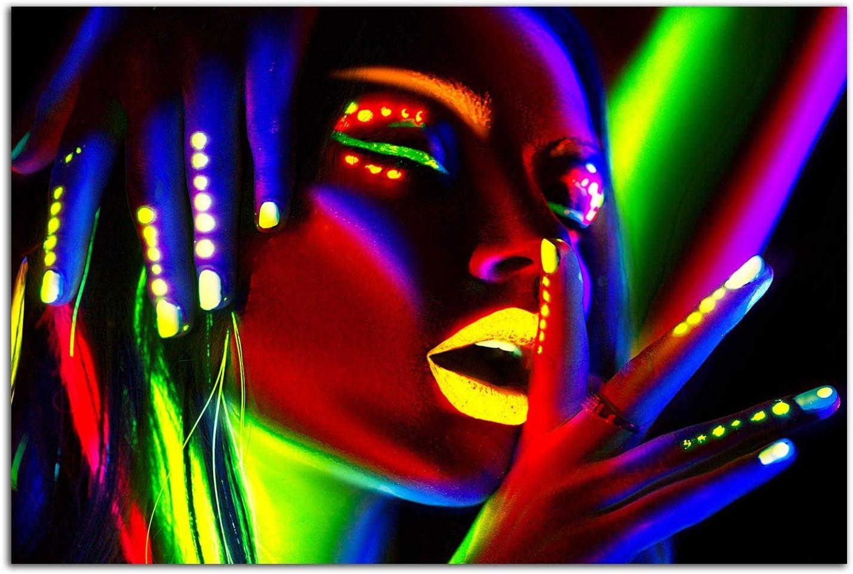 Startonight Glass Ranking TOP19 Wall Art - Woman Decor with Max 45% OFF Bright Makeup Te