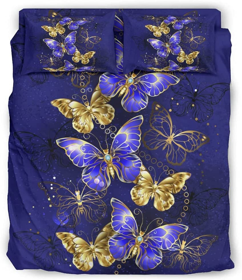 5 ☆ very popular Rtisandu Four Piece Bedding Sets Blue Excellence Bed Butterfly In Set Sheet
