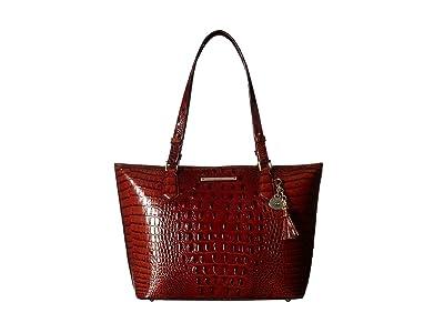 Brahmin Melbourne Medium Asher Bag (Pecan) Tote Handbags