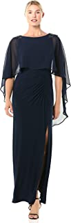 Women's Chiffon Capelet Jersey Gown