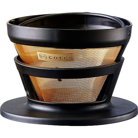 コレス コーヒー ドリッパー 丸山珈琲 共同開発 ゴールドフィルター 2-4杯用 ペーパーフィルター不要 C246BK