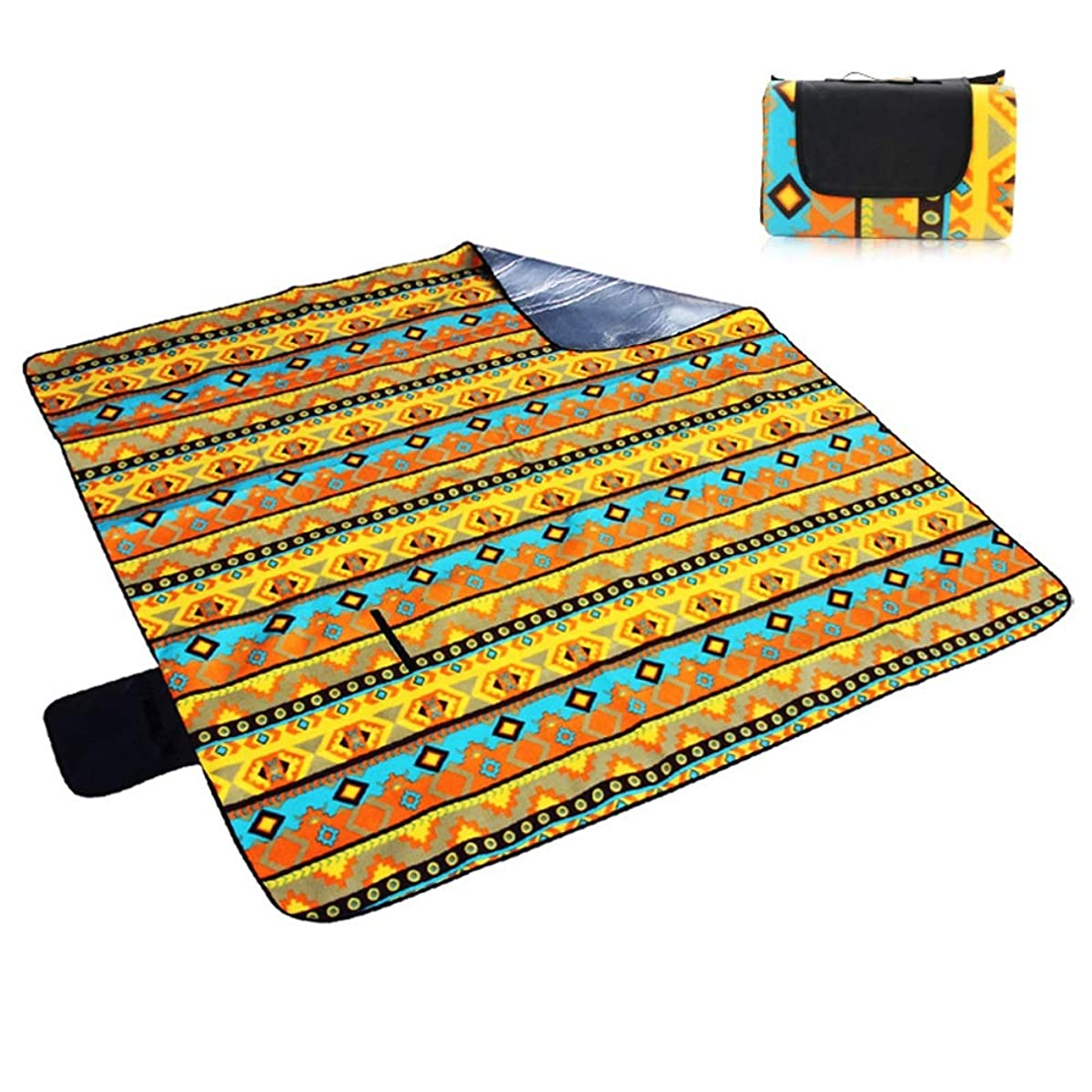 Hdcwz Field Camping Outdoor Moisture Proof Pad Spring Tour Outing Picnic Mat Portable Thicken Waterproof Camping Lawn Mat Sandless Fold ?Foldable Fold Beach Mat Sand Free Waterproof Mats (Color : B)