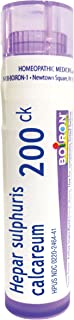 Boiron Hepar Sulphuris Calcareum 200CK, 80 Pellets, Homeopathic Medicine for Cough