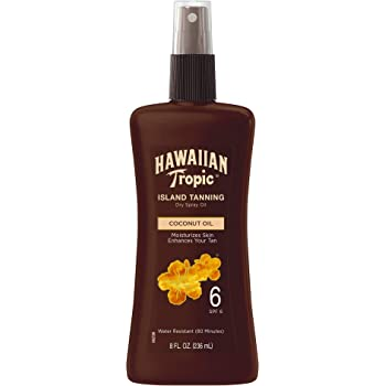Hawaiian Tropic Dark Tanning Oil, Spray Pump, SPF 6 8 Oz (Packaging May Vary)