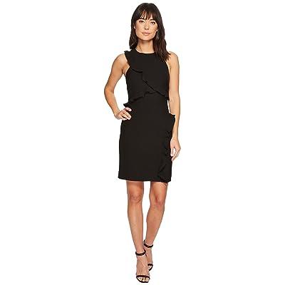 Nicole Miller Ruffle Dress (Black) Women