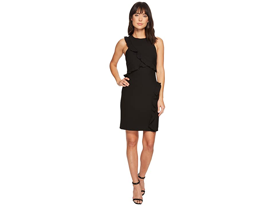 Nicole Miller Ruffle Dress (Black) Women