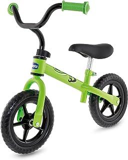 Chicco First Bike - Bicicleta Sin Pedales Con Sillín y Manillar Regulable, Ruedas Anti - Pinchazos, Metal Ligero, Color Verde Green Rocket, 2-5 Años