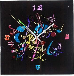 "Sandro Moro Vetro Design Reloj de pared"" Kandinskji Time 6""."