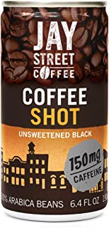 Jay Street Coffee, Coffee Shot, Unsweetened Black, 6.4 Ounce (Pack of 20)