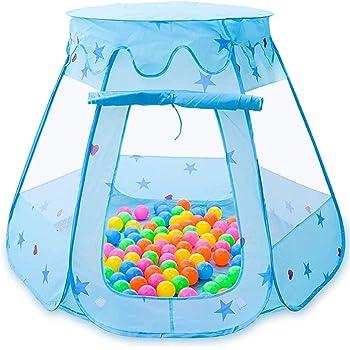 キッズテント ボールハウス 子供用テント こどもの日 室内 折り畳み式 収納バッグ付き 収納便利 誕生日 入園祝い 入学祝いプレゼントに最適 ブルー BEEWAYS