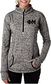 Phi Mu Quarter Zip with Stitched Greek Letters (Phi Mu Clothing)
