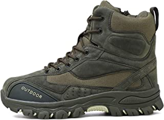 Stivali da Lavoro da Uomo Tattici in Pelle Esercito Caccia Trekking Campeggio Alpinismo Stivali Invernali Caldi Scarpe Str...