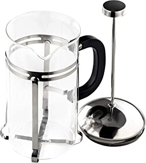 Gourmet, Ultra-Fine Stainless Steel French Press Coffee and Tea Maker. 33 Oz/ 4 Cup. Dishwasher-Safe, Heat-Resistant Glass Coffee Pot Great for Cold Brew, Espresso, Loose Leaf, or Frothing Milk