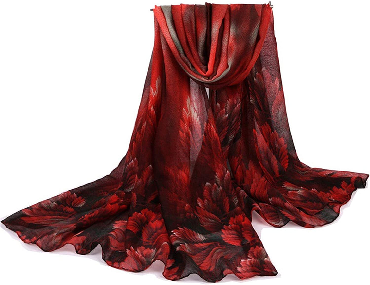 New Winter Coral flower Scarves Women Warm Bali Yarn Cotton Shawl And Wraps Lady Fashion Long Scarf Comfortable FD03