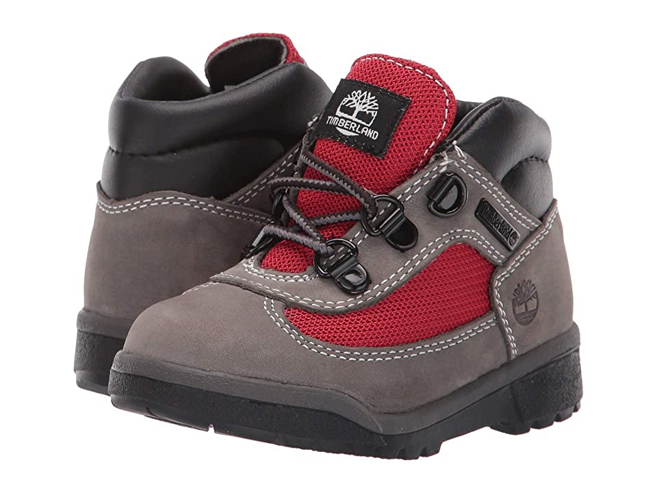 Timberland Kids Fabric/Leather Field Boot (Toddler/Little Kid) (Grey Waterbuck) Boys Shoes
