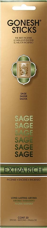 塗抹生産的スペルGONESH STICKS SAGE ガーネッシュ スティック セージ 20本入