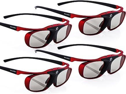 "4X Hi-Shock RF Pro""Scarlet Heaven""   3D Active Glasses for FullHD/HDR /4k 3D Projector Epson Home Cinema 750HD, 2000, 2030, 2040, 2045, 3000, 3020, 3500, 3600, 4030, 5020, 5030, 6010, 6020, 6030"