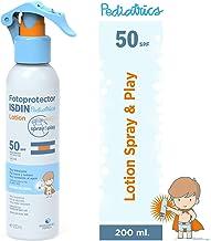 Fotoprotector ISDIN Pediatrics Lotion Spray & Play SPF 50 200 ml   Protector Solar corporal para niños   Muy hidratante   Todo tipo de pieles