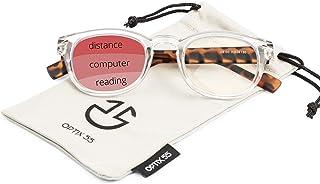 Progressive Reading Glasses for Men & Women; Blue Light Blocking Glasses Multifocus Readers