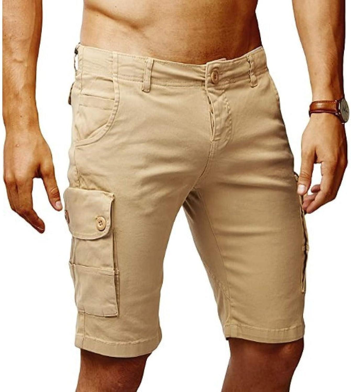 Wantess Men's Lightweight Cargo Shorts Summer Loose Comfortable Breathable Multi-Pocket