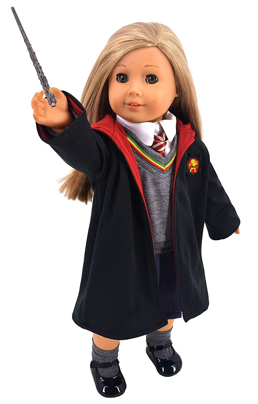 ebuddy Magic School Uniform Inspired Doll Clothes for American Girl Dolls and 18