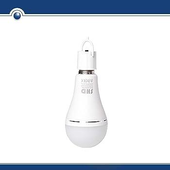 Bombilla SHD LED E27 con función de luz de emergencia (también para camping, tienda, etc.). Potencia: 9 W, 800 lúmenes, 4000 K, E27, recargable.