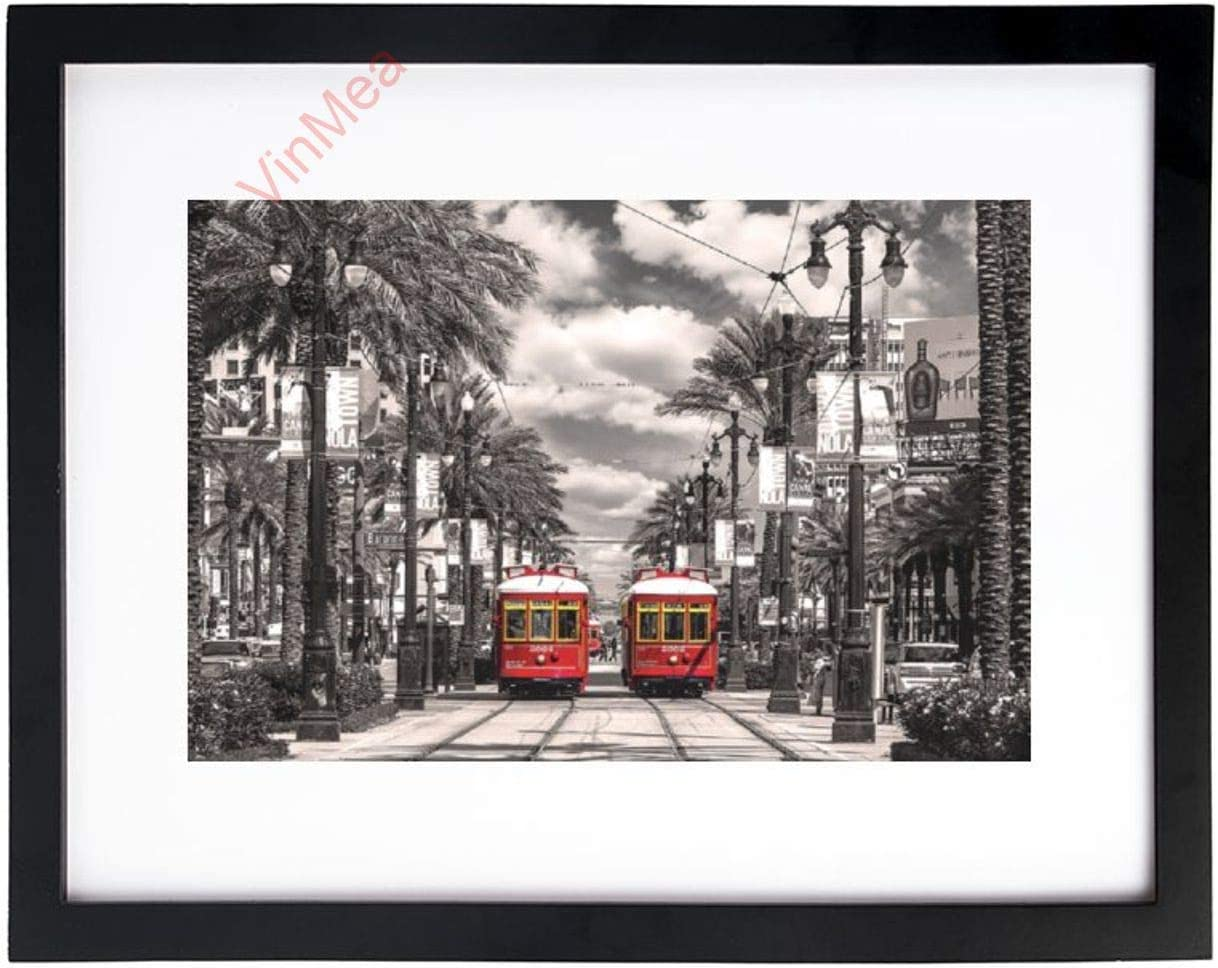 VinMea Art Print Wall New All items free New product!! shipping Black White and Orleans-Streetcars