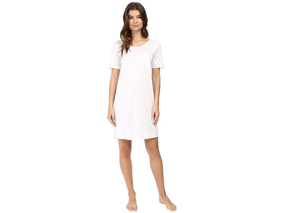 Hanro Cotton Deluxe S/S Big Shirt (White) Women
